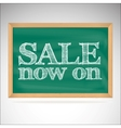 Sale now on - the inscription chalk vector image