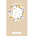 Vertical card with floral frame vector image
