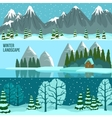 Winter Landscape Panorama Banners vector image