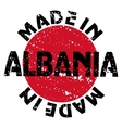 Made in Albania vector image vector image