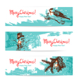 Set of Christmas Hand drawn banners vector image vector image