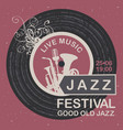 banner for festival good old jazz vector image vector image