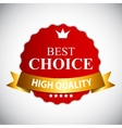 Best Choice Red Label with Ribbon vector image