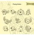 fanny birds vector image