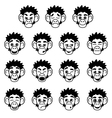 Glyph monkey face expressions vector image