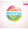 Abstract geometric circle logo with space for your vector image