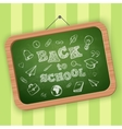 Back to school greeting text vector image