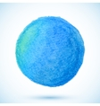 Blue isolated watercolor pencil circle vector image