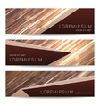 Broshure banner collection vector image