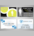 business card abstract creative set 2 vector image