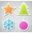 Christmas Sticker Icons vector image