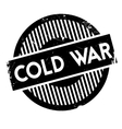 Cold War rubber stamp vector image