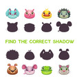 find the correct shadow vector image