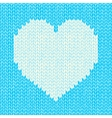seamless background with knitted heart vector image
