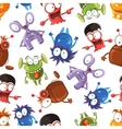Seamless monster pattern Stock vector image