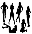 Set of sexy silhouettes vector image