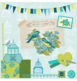 Birds and Birdcages Collection vector image vector image
