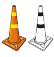 traffic cone vector image