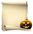 Halloween day banner drawing vector image vector image