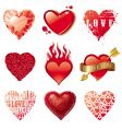 vector set of hearts vector image vector image