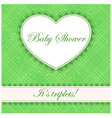 Baby-shower-cell-heart-banner-triplets vector image
