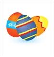 Three eggs vector image vector image