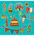 birthday kids sticker vector image