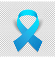 blue ribbon solidarity awareness symbol vector image