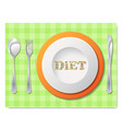cutlery with text vector image