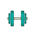 dumbbell flat vector image