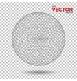 Global Network Wireframe Globe Ball with Dots vector image
