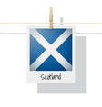photo of scotland flag vector image