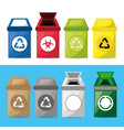 set icon trash can for waste separation vector image