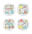 set of logos sport business medicine vector image