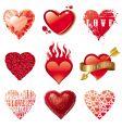 vector set of hearts vector image