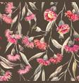 watercolor eucalyptus pattern vector image