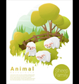 Cute animal family background with Sheep 2 vector image