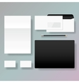 Set of corporate identity style template design vector image
