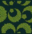 oriental pattern moon and stars islam arabic vector image