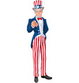 uncle sam wants you vector image vector image