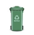 recycling bin for trash and garbage trash can vector image vector image