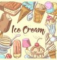 ice cream hand drawn doodle vector image