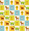 Set of funny animals Mouse lion cow dinosaur tiger vector image