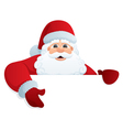 santa with sign vector image vector image