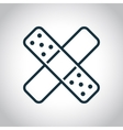 Two cross patches icon vector image