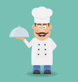 Smiling Chef Cook or Kitchener Cartoon character vector image