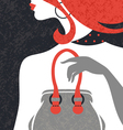 Beautiful fashion woman silhouette vector image