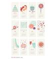 calendar 2014 cute patterns vector image
