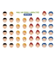 Cartoon People Emotions vector image
