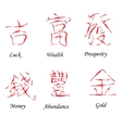 Chinese Red Hieroglyphs vector image